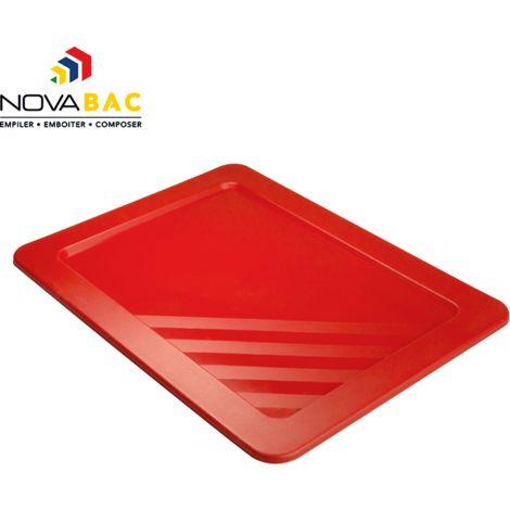 Couvercle Novabac 6 au 54L Rouge - Novap