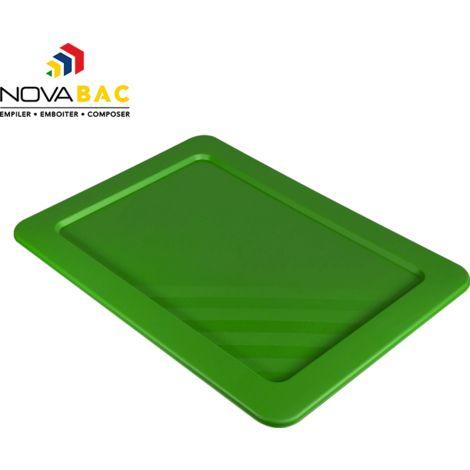 Couvercle Novabac 6 au 54L Vert émeraude - Novap