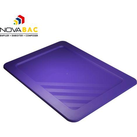 Couvercle Novabac 6 au 54L Violet - Novap