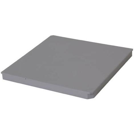 Couvercle piéton a clipser pour regard 25x25 gris