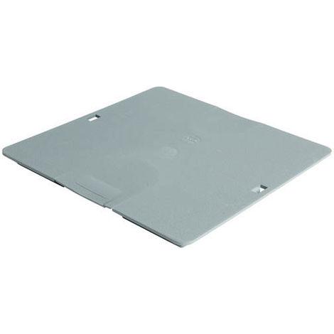 Couvercle piéton à clipser pour regard 30x30 gris