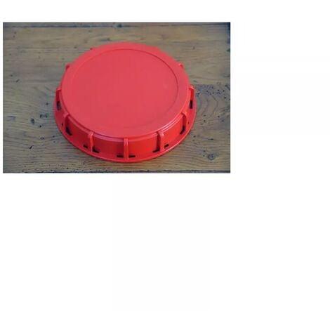 Couvercle plein 15cm pour cuve 1000 litres couleur rouge