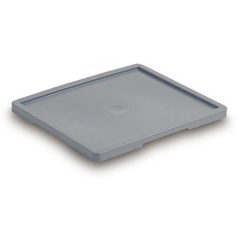 Couvercle - pour bacs de dimensions extérieures L x l 525 x 455 mm - gris