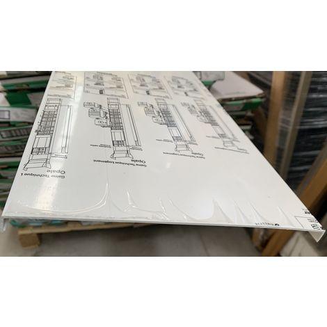 Couvercle pour goulotte GTL 13M largeur 244mm Hauteur 2600mm blanc Opale IK09 SCHNEIDER 13526