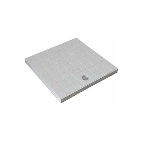 Couvercle Pré-découpé de regard de collecteur des eaux pluviales pour descente de gouttière en polypropylène renforcée - dimensions 30 x 30 cm - COD30