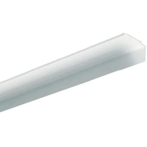 Couvercle PVC blanc 70x40mm (au metre) pour goulotte de climatisation (socle non incl) VIACLIM Planet Wattohm 16740