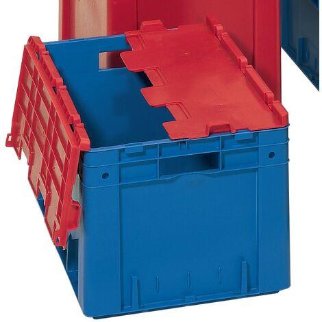 Couvercle rabattable polypropylène L600xl400mm gris avec charnières 4St./Karton
