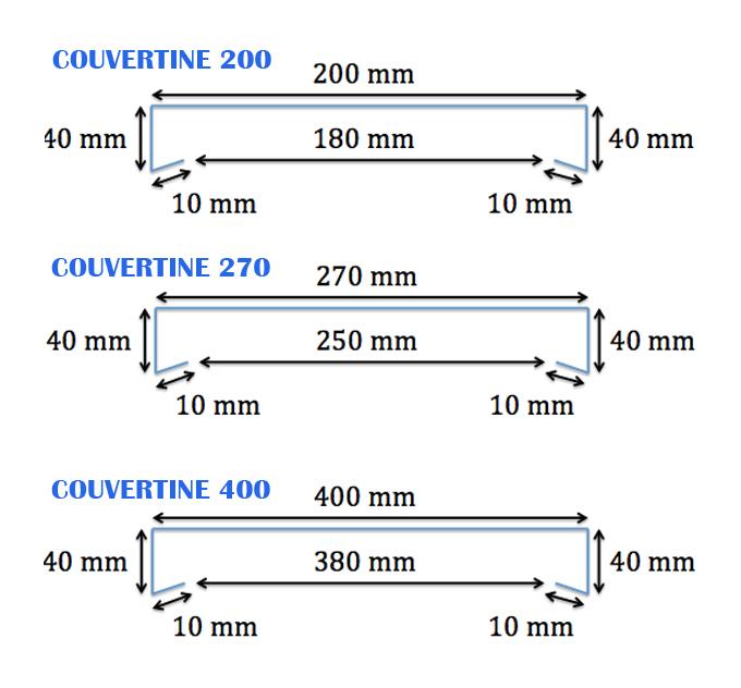 Couvertine Aluminium 1 Mm Gris Ardoise 7016 2 Mètres