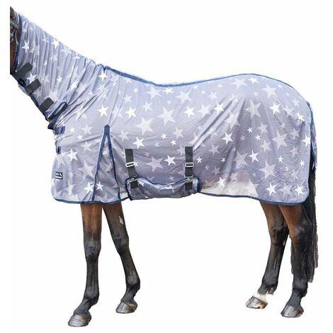 Couverture anti-mosque pour cheval avec cou d'étoiles HKM Classic
