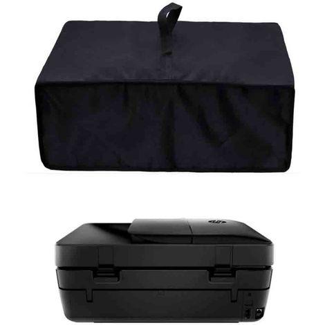 Couverture anti-poussière d'imprimante 50 * 45 * 25cm, couvre les imprimantes à jet d'encre ou laser, vinyle antistatique-noir