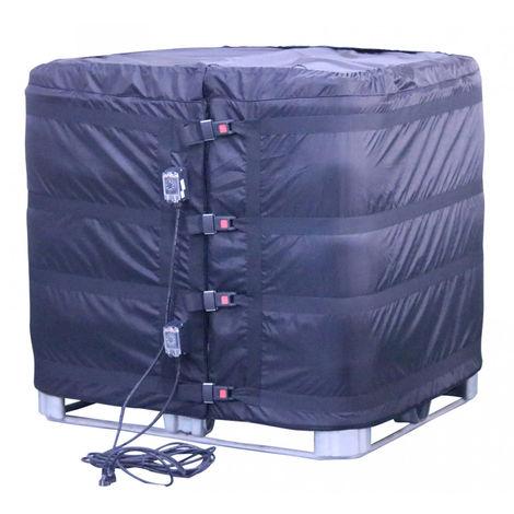 Couverture chauffante / réchauffeur pour IBC 1000 litres avec thermostats à cadran fixés