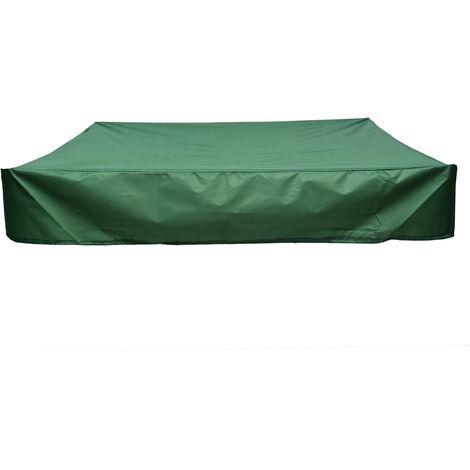 Couverture De Bac ¨¤ Sable Carr¨¦ Vert Oxford Sandbox ¨¦tanche ¨¤ La Poussi¨¨re - Vert