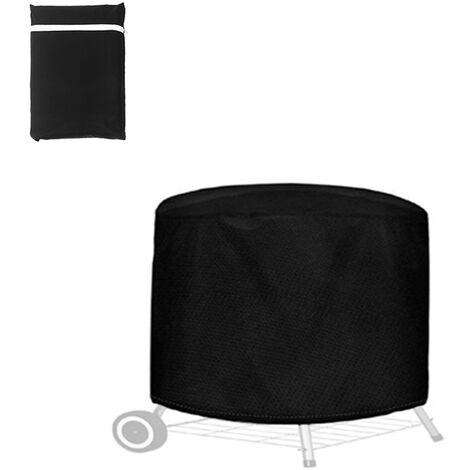 Couverture De Gril Impermeable Exterieure Portable, Housse Anti-Poussiere Avec Corde Anti-Poussiere, 71X56Cm