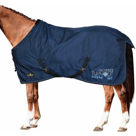 Couverture de paddock imperméable modèle Turnout Rembourrage résistant 400 g Horses