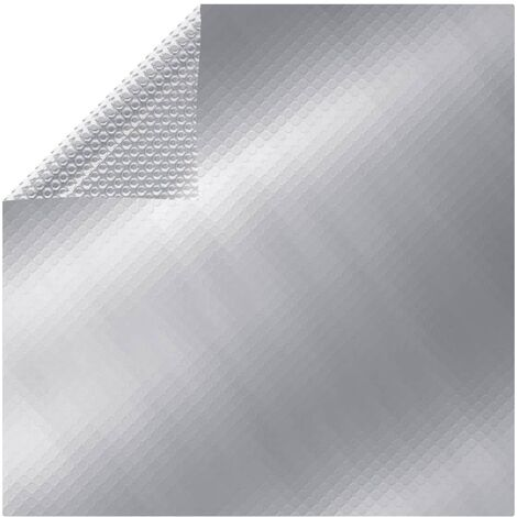 Couverture de piscine Argenté 488x244 cm PE