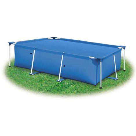 Couverture de piscine Bleu 488 x 244 cm PE
