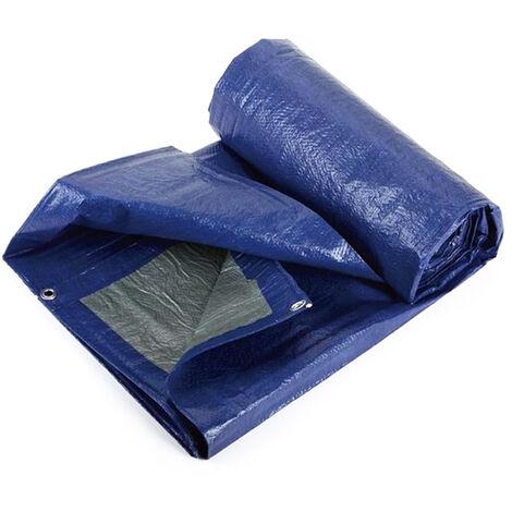 Couverture De Piscine Gonflable Rectangulaire, Couverture De Protection De Bache Multifonctionnelle Impermeable, Bleu Et Argent, 4,5 * 2,2 M