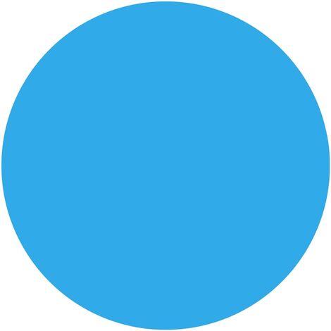 Couverture de piscine ronde 488 cm PE Bleu