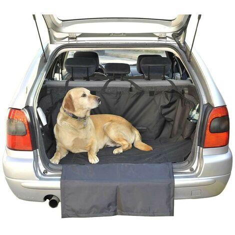 Couverture de protection de coffre pour chien Noir 156 cm