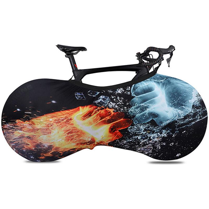 Couverture De Roue De Protection Elastique De Bicyclette, Motif De Glace Et De Feu De Type D, Grande Taille