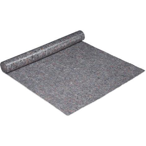 Couverture déménagement, 1x10 = 10 m², Rouleau protection sol 270 g/m² tapis travaux peinture, gris