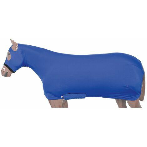Couverture en lycra pour chevaux avec fermeture à glissière, couvre-capuchon avec ouverture pour les yeux et les oreilles Protech