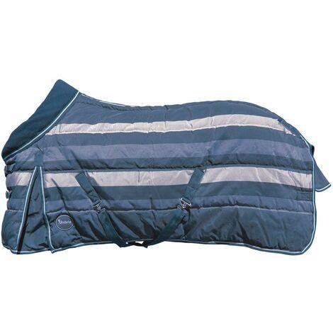 Couverture rembourrée de 350 g avec bretelles croisées et sous cuisse, soufflet et collet en laine polaire AmaHorse