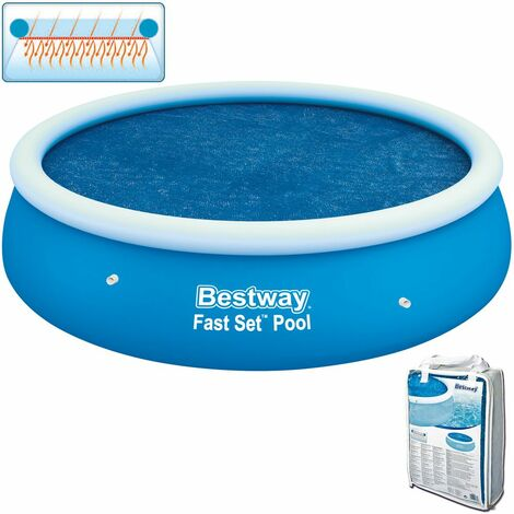 Couverture solaire Bestway FAST SET piscine hors-sol ronde