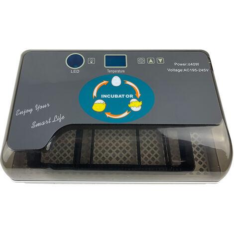 Couveuse automatique 12 œufs Système de retournementl Alarme de température Incubateur Volaille