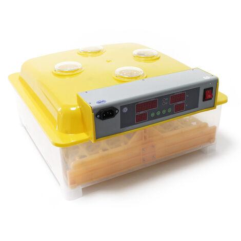 Couveuse automatique 48 oeufs Appareil à couver Incubateur 4 fenêtres de surveillance