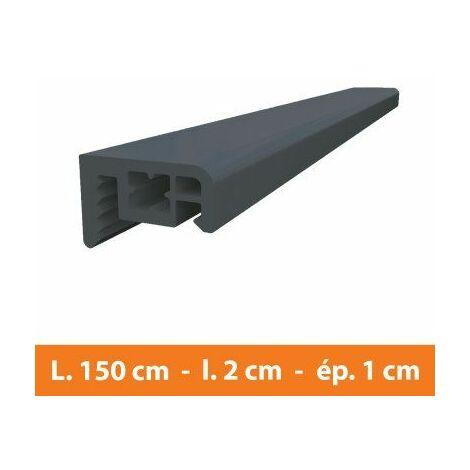 Couvre joint PVC Gris - L.150 x l.2 x ép.1 cm - Gris