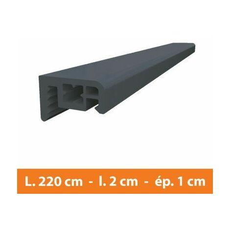 Couvre joint PVC Gris - L.220 x l.2 x ép.1 cm - Gris