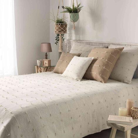 """main image of """"Couvre-lit en coton tissé - 230 x 250 cm - Fileo - Blanc - Livraison gratuite"""""""
