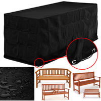 Cover For Benches 3 Seater Garden Furniture Tarpaulin 420D Oxford Fabric 162 x 65 x 88 cm