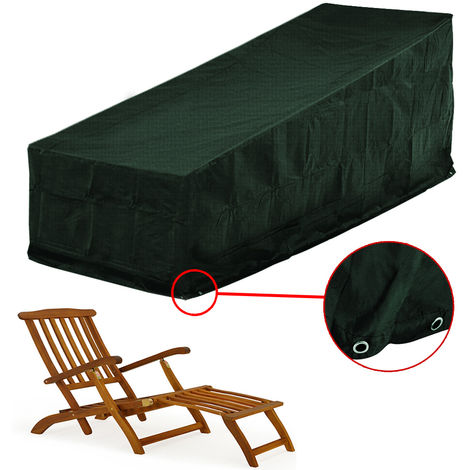 Cover/Protection for sun lounger- outdoor furniture protection deck chair green