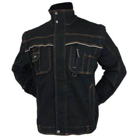 COVERGUARD bound jeans jacket - black - Size 3XL