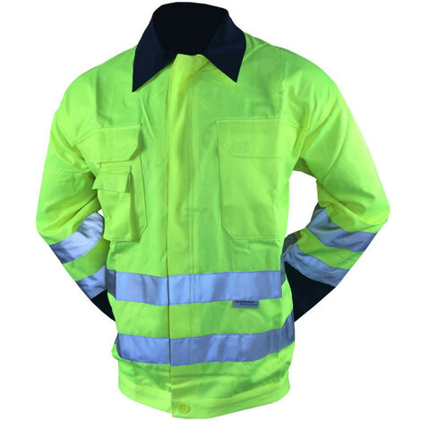 COVERGUARD Patrol High Visibility Work Jacket - Fluorescent Yellow - 3XL
