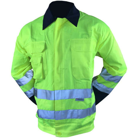 COVERGUARD Patrol High Visibility Work Jacket - Fluorescent Yellow - Size S