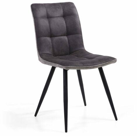 Cowboy Suede Effect Dark Grey Chair