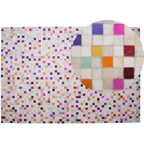 Cowhide Area Rug 140 x 200 cm Multicolour ADVAN