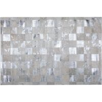 Cowhide Area Rug 160 x 230 cm Beige and Silver YAZIR