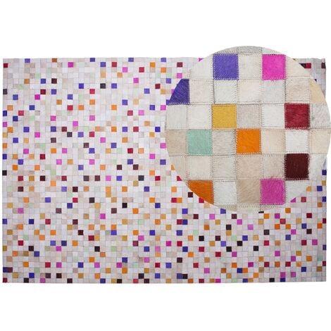 Cowhide Area Rug 160 x 230 cm Multicolour ADVAN
