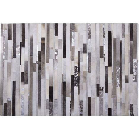 Cowhide Rug 140 x 200 cm Brown Multicolour TIPILI