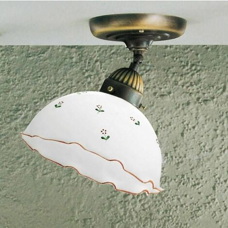 Cozy style NONNA antique brass ceiling light 1 bulb, diameter 30 Cm