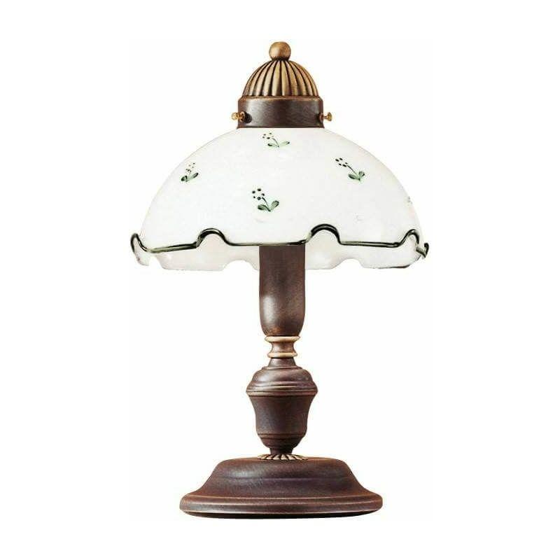 Image of 14-kolarz - Cozy style table lamp NONNA antique brass, height 32 Cm