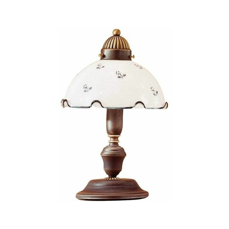 Image of 14-kolarz - Cozy style table lamp NONNA antique brass in matt glass