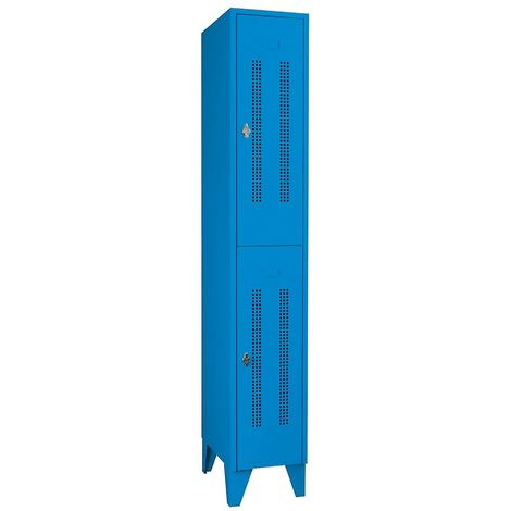 CP Armoire à casiers CAMBIO avec portes en acier - 3 casiers, largeur 300 mm - corps blanc pur/porte rouge feu