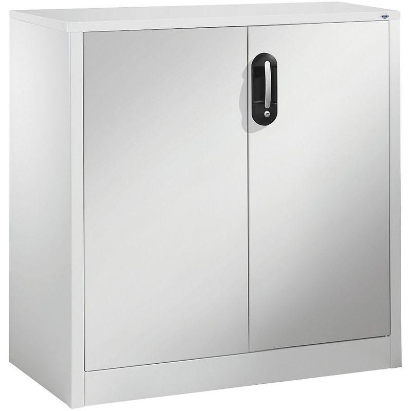 Certeo - CP Armoire basse ACURADO, 2 hauteurs de classeurs, h x l x p 1000 x 930 x 500 mm gris clair / aluminium - Coloris corps: gris clair RAL 7035