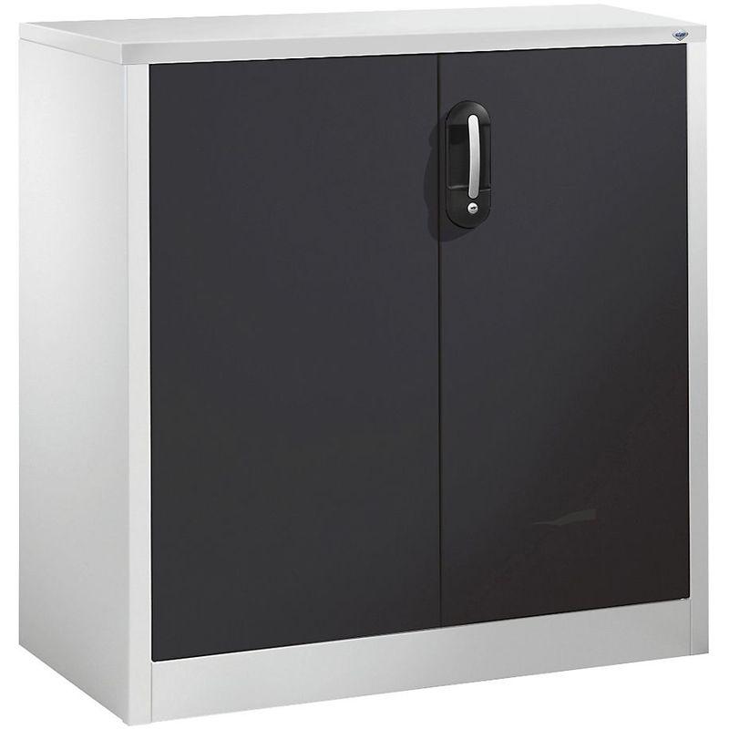 CP Armoire basse ACURADO, 2 hauteurs de classeurs, h x l x p 1000 x 930 x 500 mm gris clair / gris noir - Coloris corps: gris clair RAL 7035