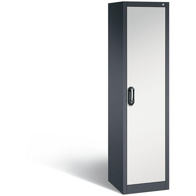 Certeo - CP Armoire de bureau ACURADO, l x p 500 x 500 mm gris noir / gris clair - Coloris corps: noir-gris RAL 7021